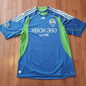 Adidas Seattle Sounders MLS Soccer Jersey - EUC